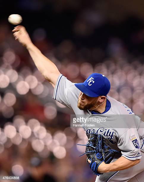 Greg Holland of the Kansas City Royals delivers a pitch against the Minnesota Twins during the ninth inning of the game on June 8 2015 at Target...