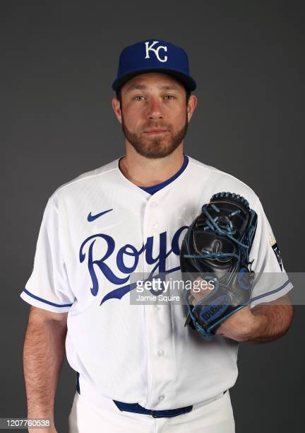 Greg Holland of the Kansas City Royals poses during Kansas City Royals Photo Day on February 20, 2020 in Surprise, Arizona.