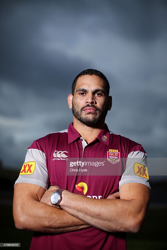 Greg Inglis poses during a media session at the Brisbane Showgrounds on May 19, 2015 in Brisbane, Australia.