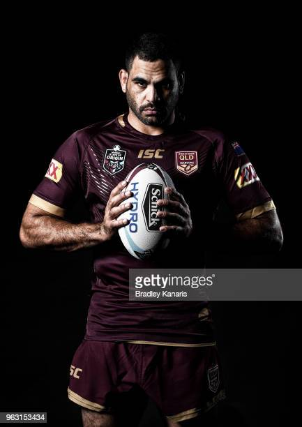 Greg Inglis poses for a photo during a Queensland Maroons State of Origin media opportunity at Rydges Southbank on May 28 2018 in Brisbane Australia
