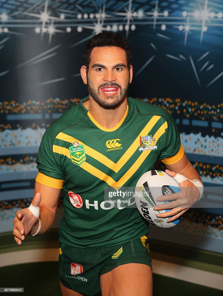 Greg Inglis's wax model is displayed at Madame Tussauds on February 2, 2016 in Sydney, Australia.