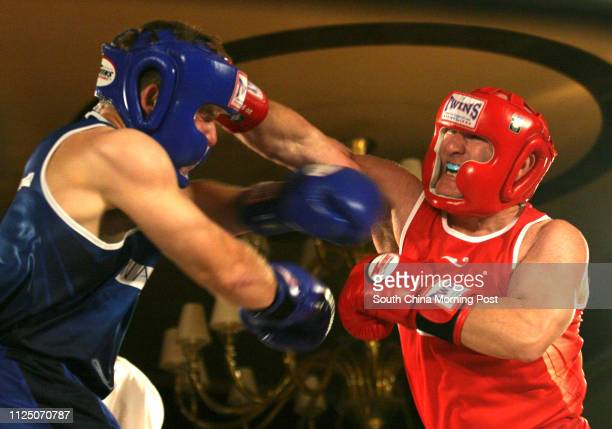 Greg Jacobson vs Mark Finnie at a fund raising boxing match Flight Nite to raise fund for the Operation Smile at the Cornrad Hotel The Operation...