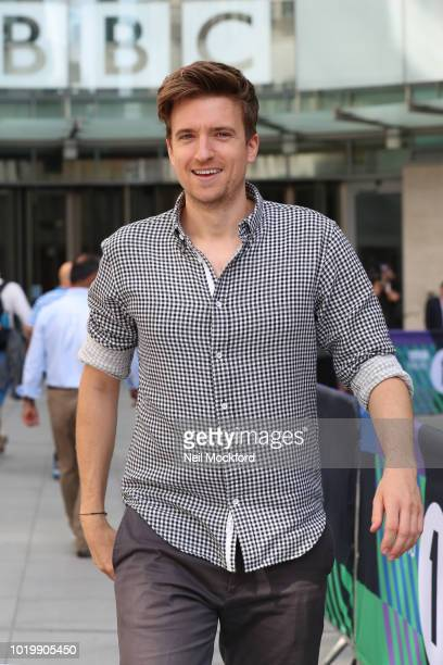 Greg James at the BBC Radio One Studios after his first new Breakfast Show on August 20 2018 in London England