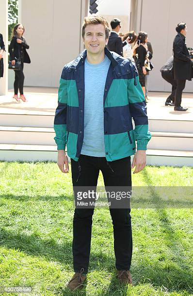 Greg James attends the Burberry Prorsum show during the London Collections Men SS15 on June 17 2014 in London England