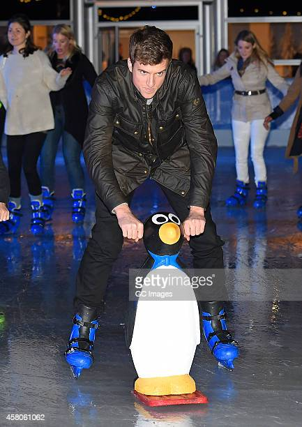 Greg James attends The Natural History Museum Ice Rink Launch on October 29 2014 in London England