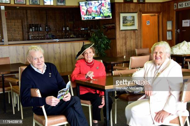 Greg Jean Hogan and Judy Noonan prior to the JAN MILLER TRIBUTE BM52 Handicap at Wycheproof Racecourse on November 02 2019 in Wycheproof Australia