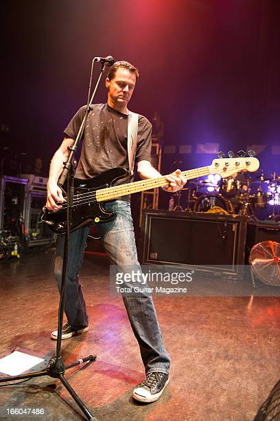 Greg K of American punk rock band The Offspring performing live onstage at the O2 Shepherd's Bush Empire June 5 2012