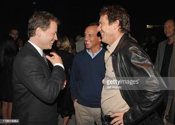 Greg Kinnear and Dennis Quaid at the Feast of Love after party at The Academy of Motion Picture Arts and Sciences on September 25 2007 in Los Angeles...