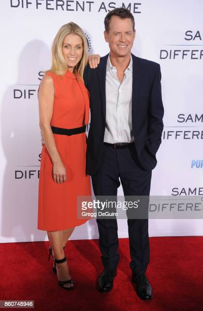 Greg Kinnear and Helen Labdon arrive at the premiere of Paramount Pictures and Pure Flix Entertainment's 'Same Kind Of Different As Me' at Westwood...