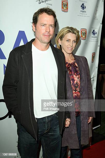 Greg Kinnear and Helen Labdon arrive to the Nicole Maloney RARE book signing at The Grove in Los Angeles CA on October 22 2008