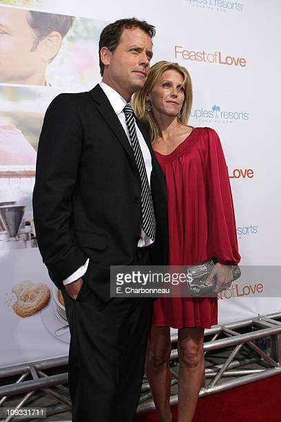 Greg Kinnear and Helen Labdon at the Feast of Love Premiere at The Academy of Motion Picture Arts and Sciences on September 25 2007 in Los Angeles...