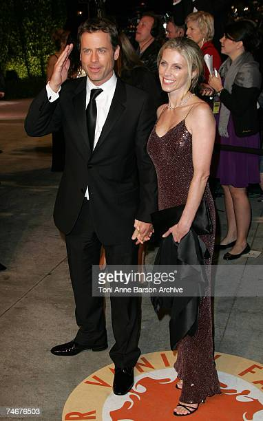 Greg Kinnear and Helen Labdon at the Mortons in West Hollywood, California