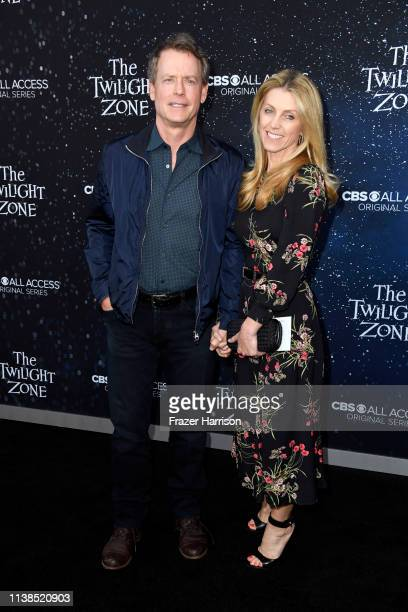 Greg Kinnear and Helen Labdon attend CBS All Access new series The Twilight Zone premiere at the Harmony Gold Preview House and Theater on March 26...