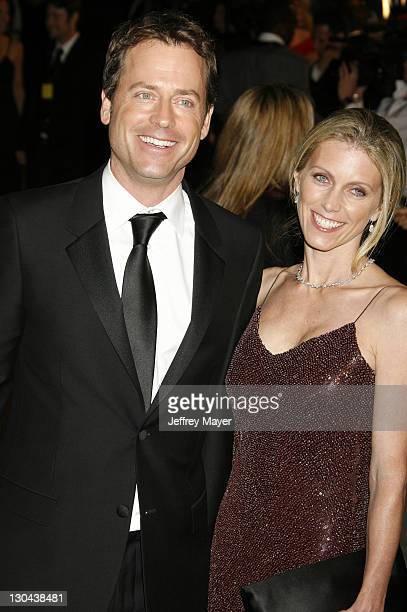 Greg Kinnear and Helen Labdon during 2007 Vanity Fair Oscar Party Hosted by Graydon Carter - Arrivals at Mortons in West Hollywood, California,...