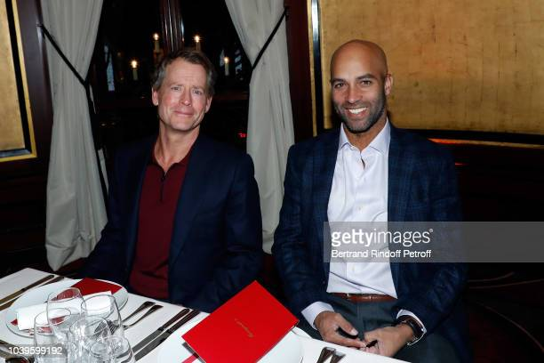 Greg Kinnear and Kelly Slater attend 'Ryder Cup Dinner' at Fouquet's Barriere on September 24 2018 in Paris France