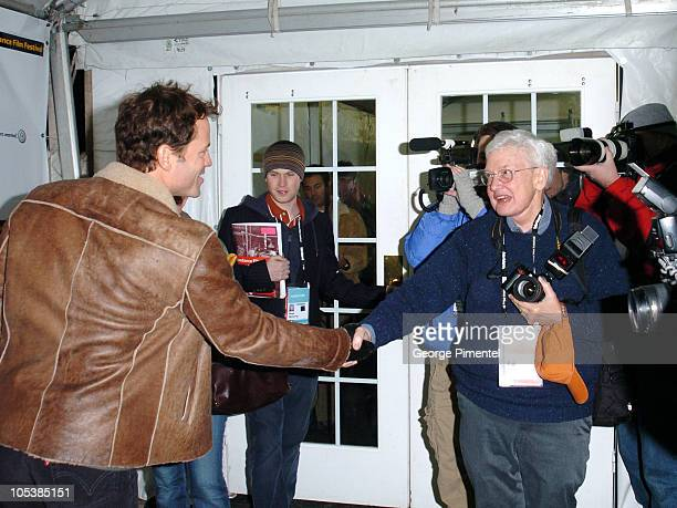 Greg Kinnear and Roger Ebert during 2005 Sundance Film Festival The Matador Premiere at Eccles Theatre in Park City Utah United States