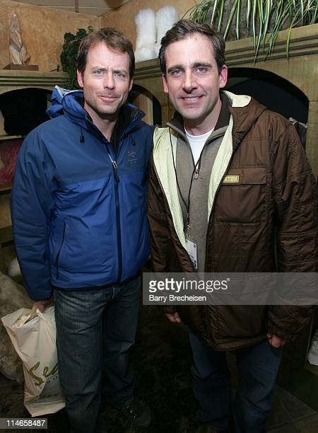 Greg Kinnear and Steve Carell at Ugg during 2006 Park City Uggs at Village at The Lift Day 2 at Village at the Lift in Park City Utah United States