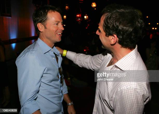 Greg Kinnear and Steve Carell during 2006 Los Angeles Film Festival Little Miss Sunshine After Party at Wadsworth Theater in Westwood California...