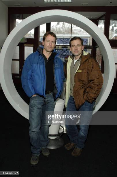 Greg Kinnear and Steve Carell during 2006 Park City Hollywood Life House and Cadillac Lounge Day 2 at 518 Main Street in Park City Utah United States