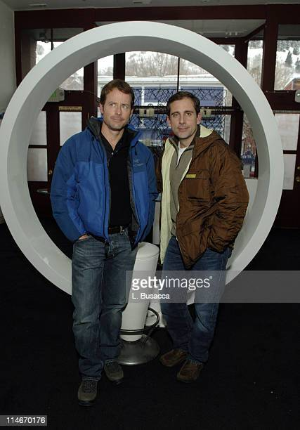 Greg Kinnear and Steve Carell during 2006 Park City - Hollywood Life House and Cadillac Lounge - Day 2 at 518 Main Street in Park City, Utah, United...