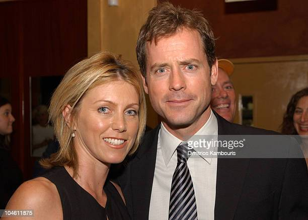 Greg Kinnear and wife Helen Labdon during 40th New York Film Festival Screening of Auto Focus AfterParty at Gabriel's Restaurant in New York City New...