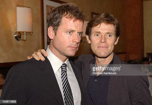 Greg Kinnear and Willem Dafoe during 40th New York Film Festival Screening of Auto Focus AfterParty at Gabriel's Restaurant in New York City New York...