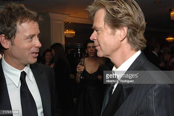 Greg Kinnear and William H Macey during Fox Searchlight's 2007 Golden Globe After Party in Los Angeles California United States