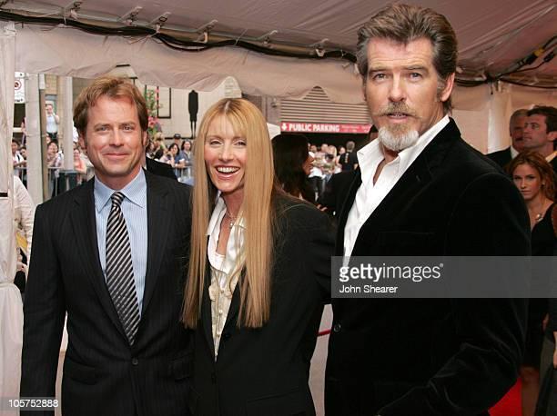 Greg Kinnear, Beau St. Clair, producer and Pierce Brosnan