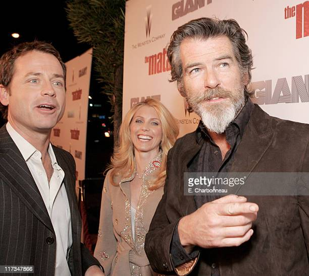 Greg Kinnear Helen Labdon and Pierce Brosnan during The Weinstein Company's 'The Matador' Los Angeles Premiere at Westwood Crest Theatre/GM Penthouse...