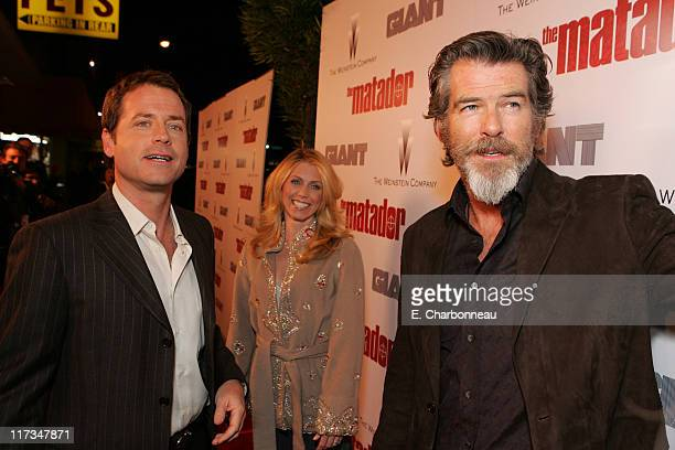 Greg Kinnear Helen Labdon and Pierce Brosnan during The Weinstein Company's The Matador Los Angeles Premiere at Westwood Crest Theatre/GM Penthouse...