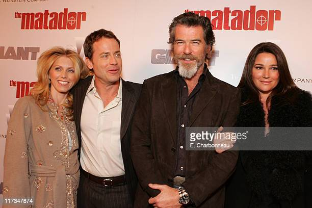 Greg Kinnear Helen Labdon Pierce Brosnan and Keely Shaye Smith