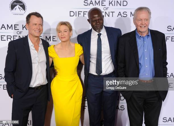 Greg Kinnear Renee Zellweger Djimon Hounsou and Jon Voight arrive at the premiere of Paramount Pictures and Pure Flix Entertainment's 'Same Kind Of...