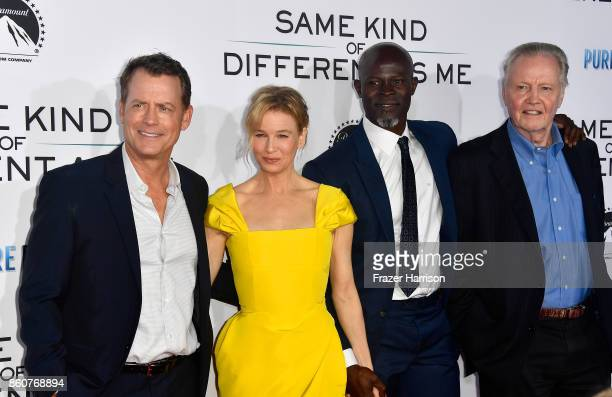 Greg Kinnear Renee ZellwegerDjimon Hounsou Jon Voight Premiere Of Paramount Pictures And Pure Flix Entertainment's 'Same Kind Of Different As Me' at...