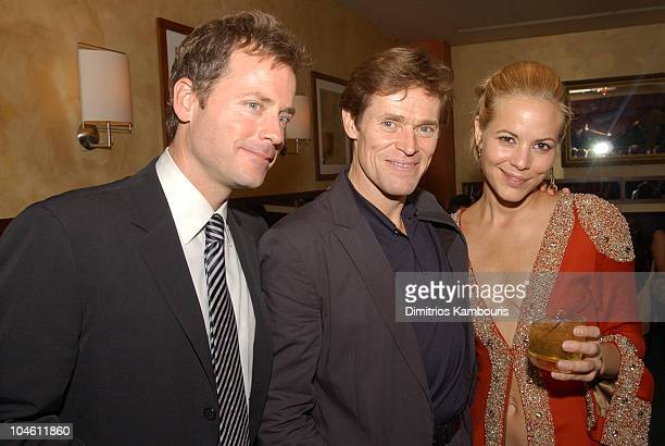 Greg Kinnear Willem Dafoe and Maria Bello during 40th New York Film Festival Screening of Auto Focus AfterParty at Gabriel's Restaurant in New York...