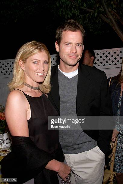 Greg Kinnear with wife Helen at the afterparty for HBO's special screening of Dinner With Friends at Club Colette in Southampton New York Photo Evan...