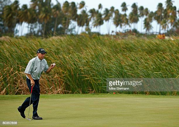 Greg Kraft after making a birdie on the 17th hole during the final round of the Puerto Rico Open presented by Banco Popular held on March 23 2008 at...