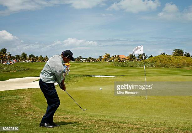 Greg Kraft chips to the green on the 12th hole during the final round of the Puerto Rico Open presented by Banco Popular held on March 23 2008 at...