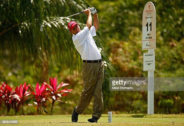 Greg Kraft hits his tee shot on the 11th hole during the third round of the Puerto Rico Open presented by Banco Popular held on March 22 2008 at Coco...