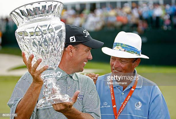 Greg Kraft is congratulated by Chi Chi Rodriguez after winning the Puerto Rico Open presented by Banco Popular held on March 23 2008 at Coco Beach...
