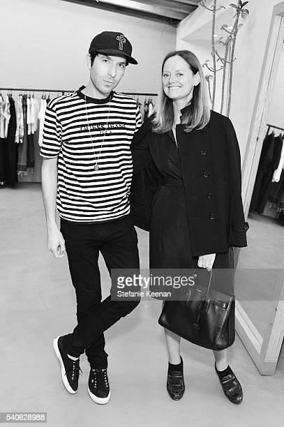 Greg Krelenstein and Emma Reeves attend Rachel Comey Los Angeles Store Opening on June 15 2016 in Los Angeles California
