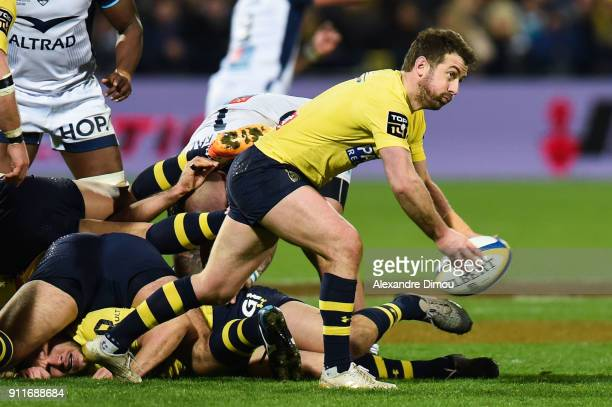 Greg Laidlaw of Clermont during the Top 14 match between Clermont and Montpellier at on January 28 2018 in Clermont France