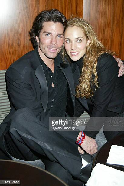 Greg Lauren and Elizabeth Berkley during Grand opening of the new Time Warner Center at Time Warner Center in New York New York United States