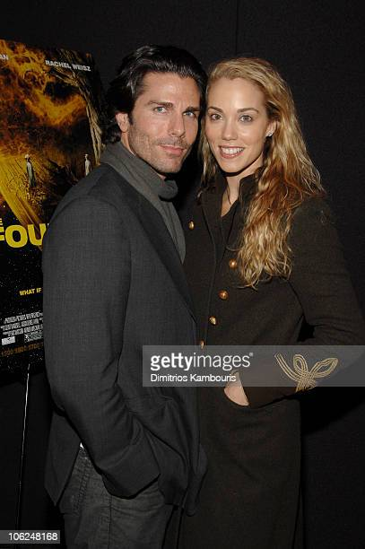 Greg Lauren and Elizabeth Berkley during The Fountain New York Premiere Arrivals at Tribeca Grand in New York City New York United States
