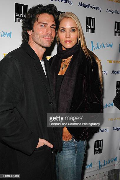 Greg Lauren and Elizabeth Berkley during The New Group Presents Abigail's Party at Sacha in New York City New York United States