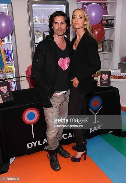 Greg Lauren and Elizabeth Berkley sign copies of Ask Elizabeth at Dylan's Candy Bar on April 1 2011 in New York City