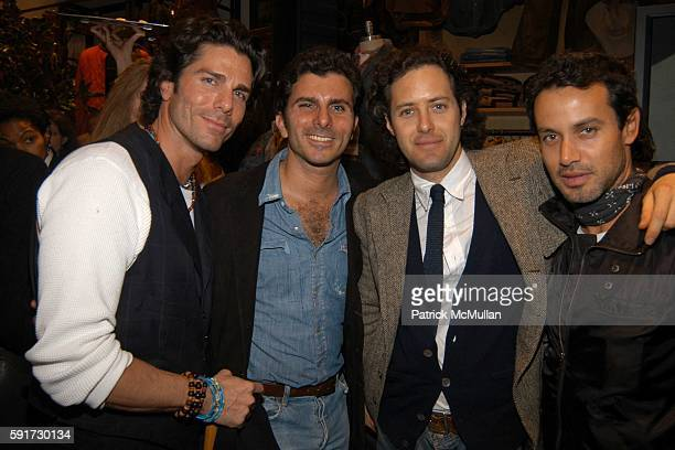 Greg Lauren, Brad Lauren, David Lauren and Andrew Lauren attend Steven Sebring and Patti Smith celebrate the D.A.P. Publication of BYGONE DAYS...
