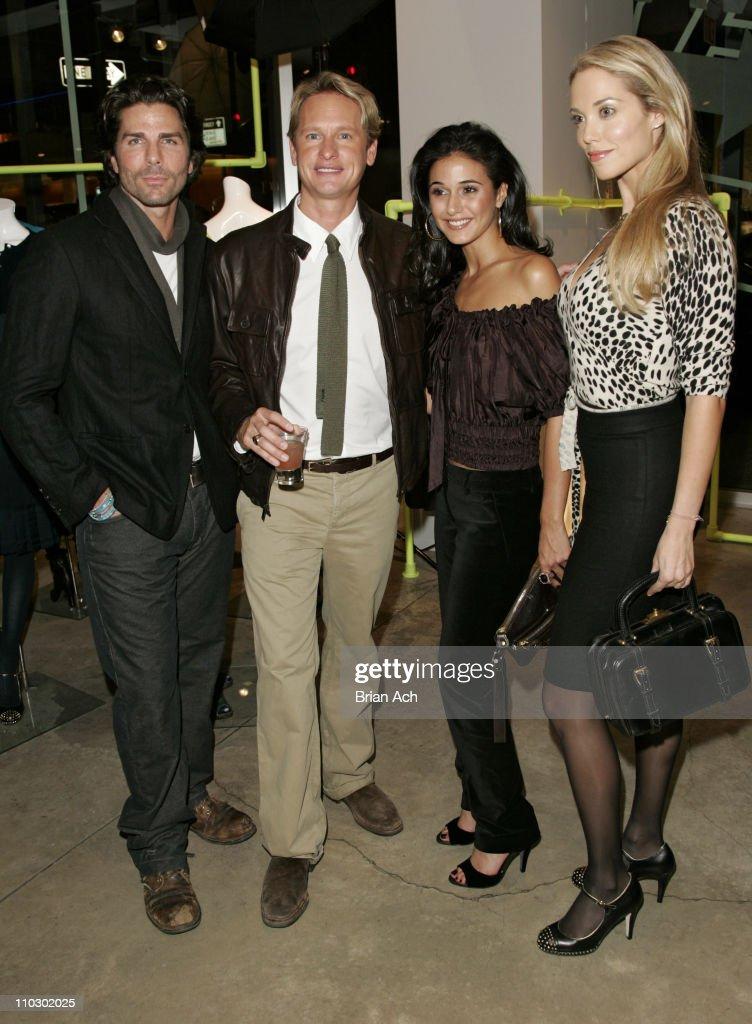Greg Lauren, Carson Kressley, Emmanuelle Chriqui, and Elizabeth Berkley