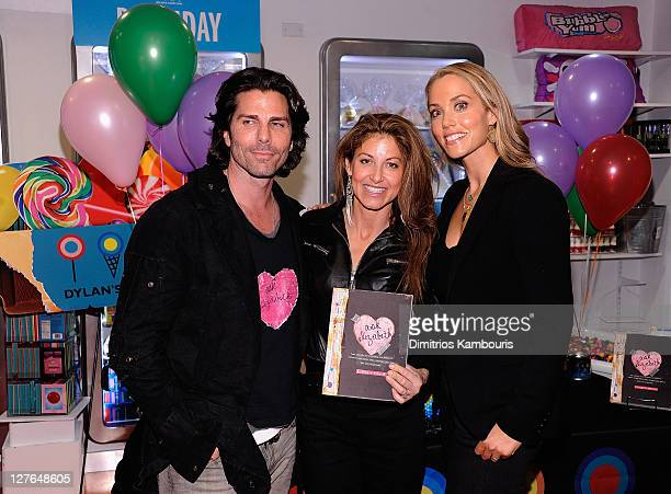 Greg Lauren Dylan Lauren and Elizabeth Berkley sign copies of Ask Elizabeth at Dylan's Candy Bar on April 1 2011 in New York City