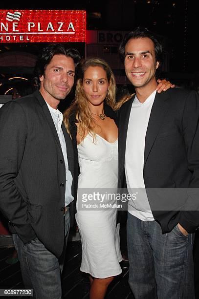 Greg Lauren Elizabeth Berkley and Ben Silverman attend BEN SILVERMAN ERIC HADLEY and CHARLIE WALK host THE NETWORK UPFRONTS dinner at Spotlight Live...