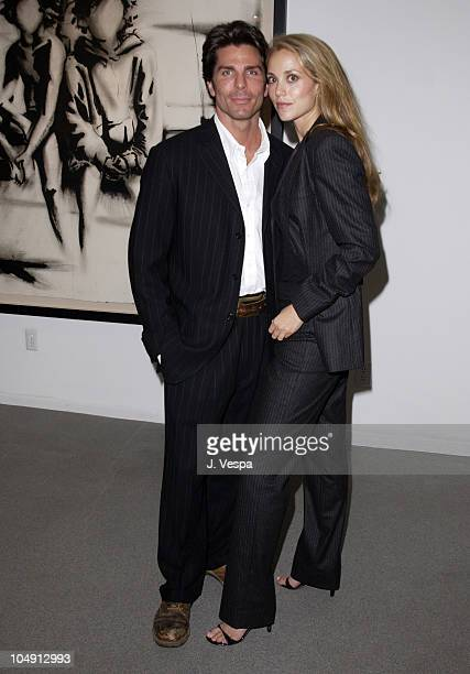 Greg Lauren Elizabeth Berkley during Greg Lauren Art Show Opening at Stricoff Fine Art Gallery in New York City New York United States